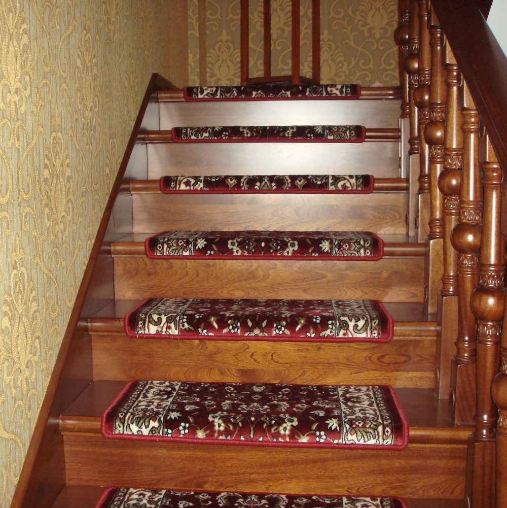 Stair Tread Rugs Canada How To Remove Carpet From Stairs And With NonSkid Solid StairTread Rugs (Image 13 of 15)