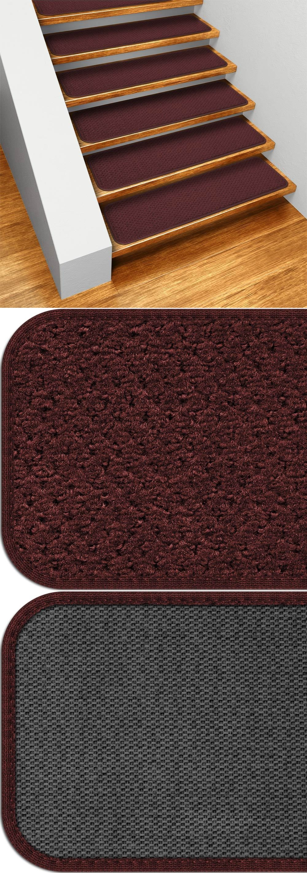 Stair Treads 175517 Set Of 15 Skid Resistant Carpet Stair Treads In Carpet Stair Treads Set Of  (Image 14 of 15)