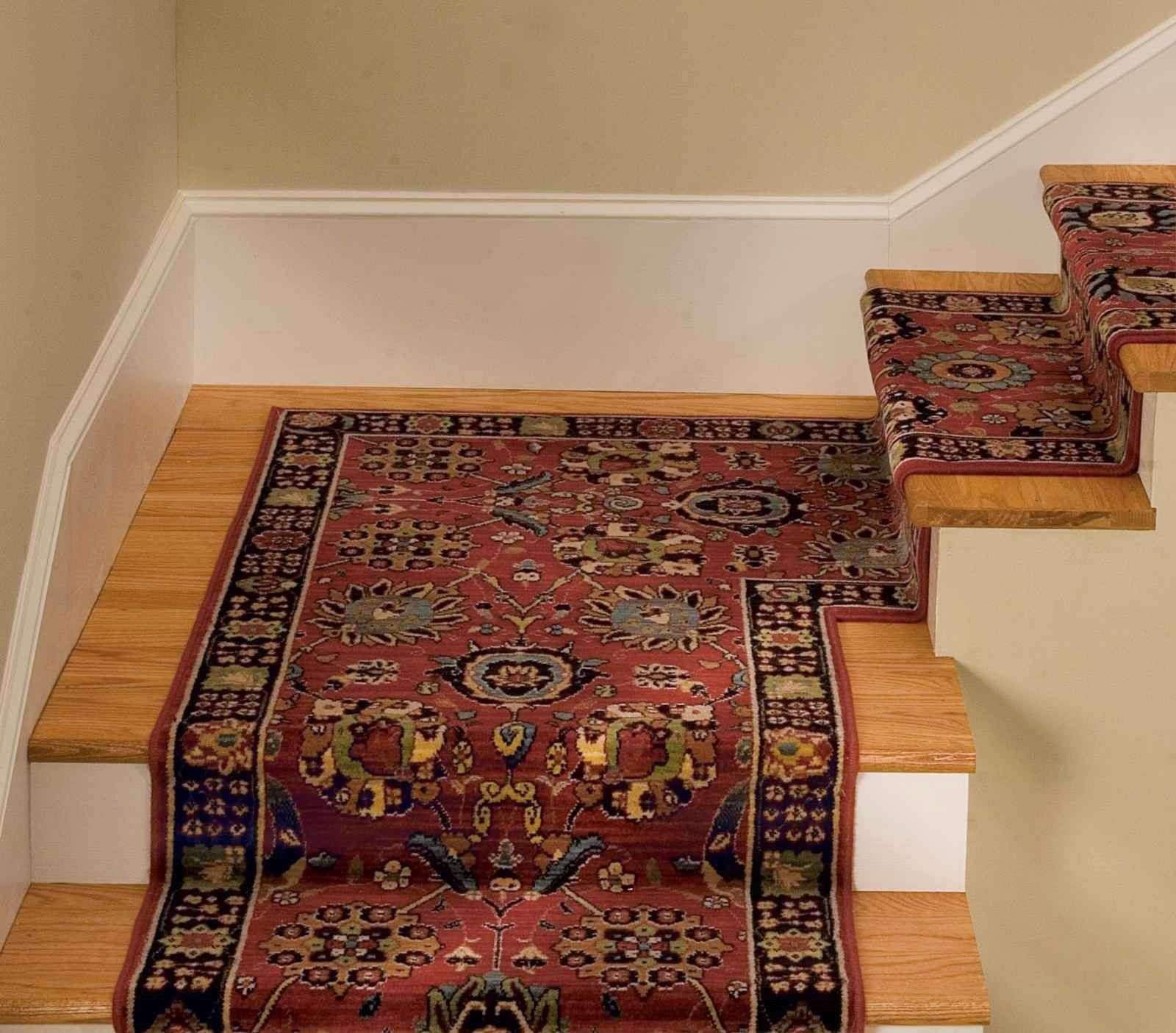Staircase Tread Rugs Roll Rug Runner Area Rugs Stair Treads Inside NonSkid Solid StairTread Rugs (Image 15 of 15)