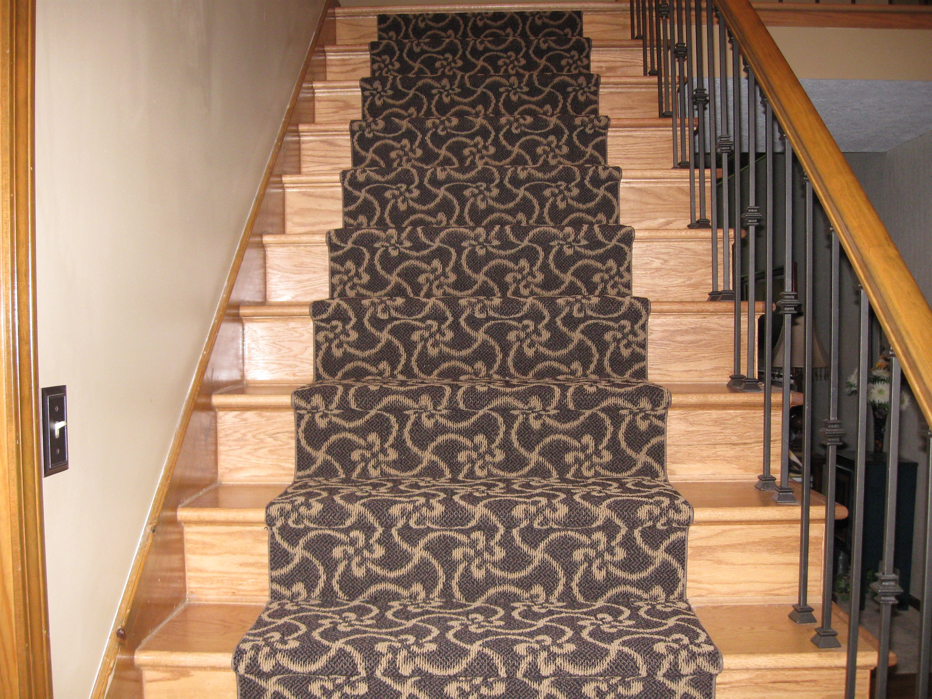 Stairway Rugs Roselawnlutheran Regarding Stair Tread Carpet Rods (Image 15 of 15)