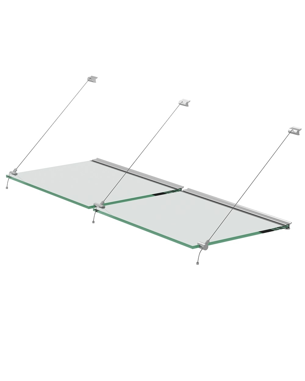 Steel Wire System Set For Glass Shelves Of 10mm Thickness With With Glass Suspension Shelves (Image 13 of 15)