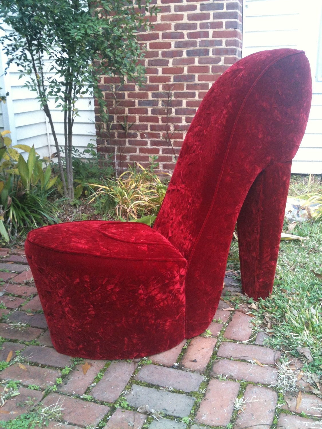 Stiletto Shoe Chair Httpwwwebaycoukitmred Black Shoe High Throughout Heel Chair Sofas (Image 14 of 15)
