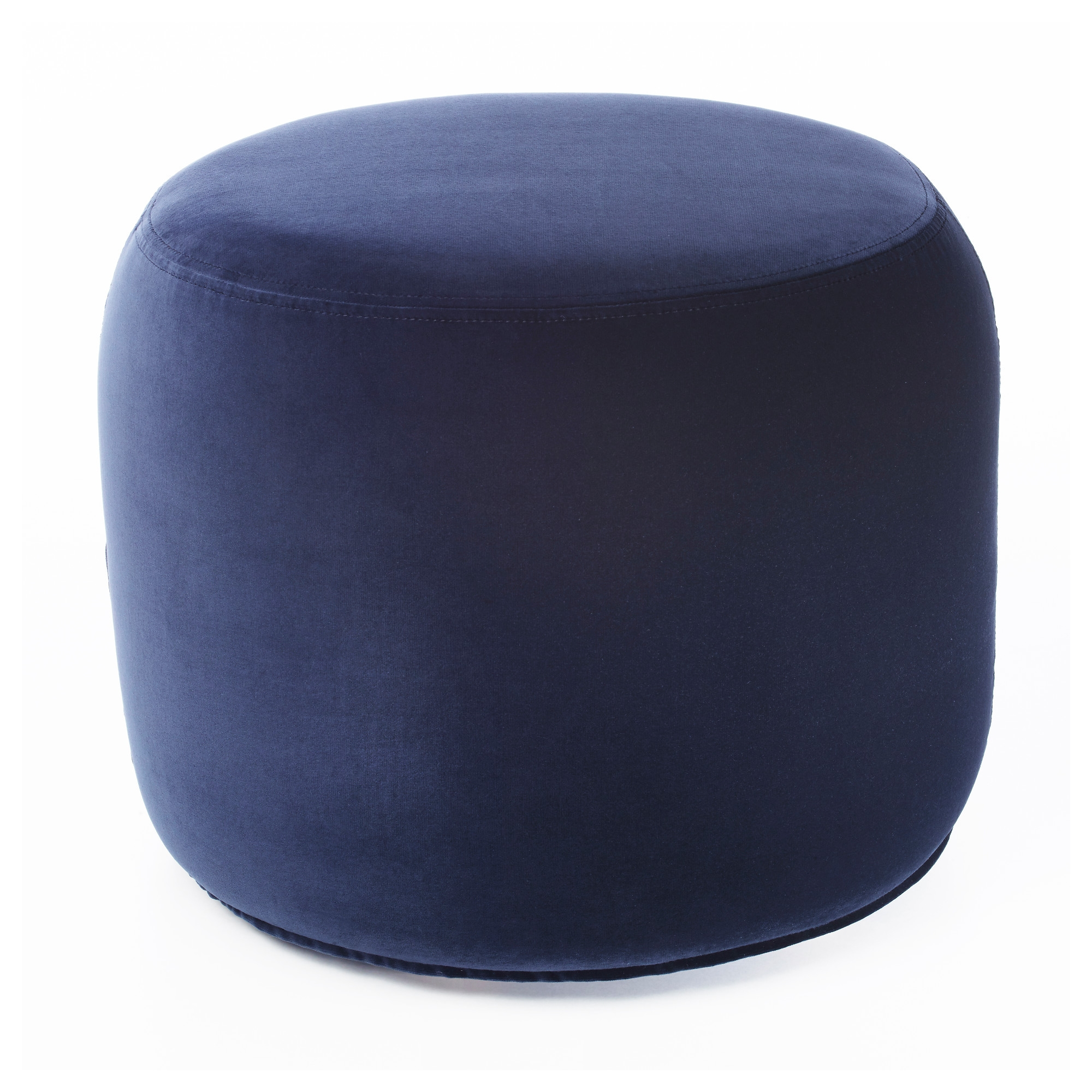 Stockholm 2017 Pouffe Sandbacka Dark Blue 50×50 Cm Ikea Inside Small Footstools And Pouffes (View 1 of 15)