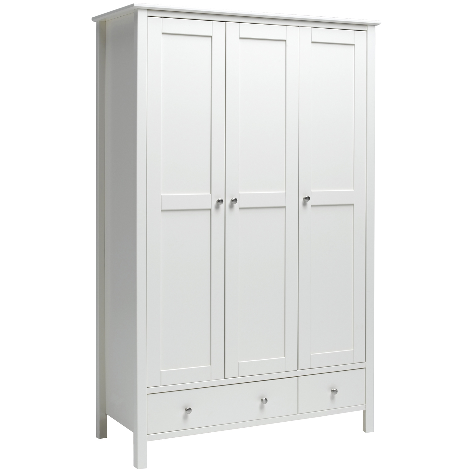 Featured Image of 3 Door White Wardrobes