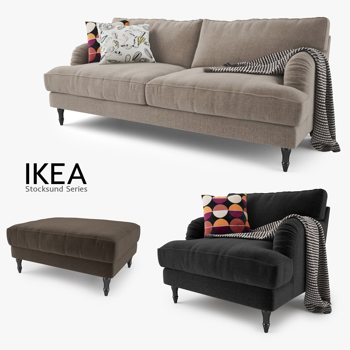 Stocksund Series Sofa Chair Max Throughout Sofa Chairs Ikea (Image 15 of 15)