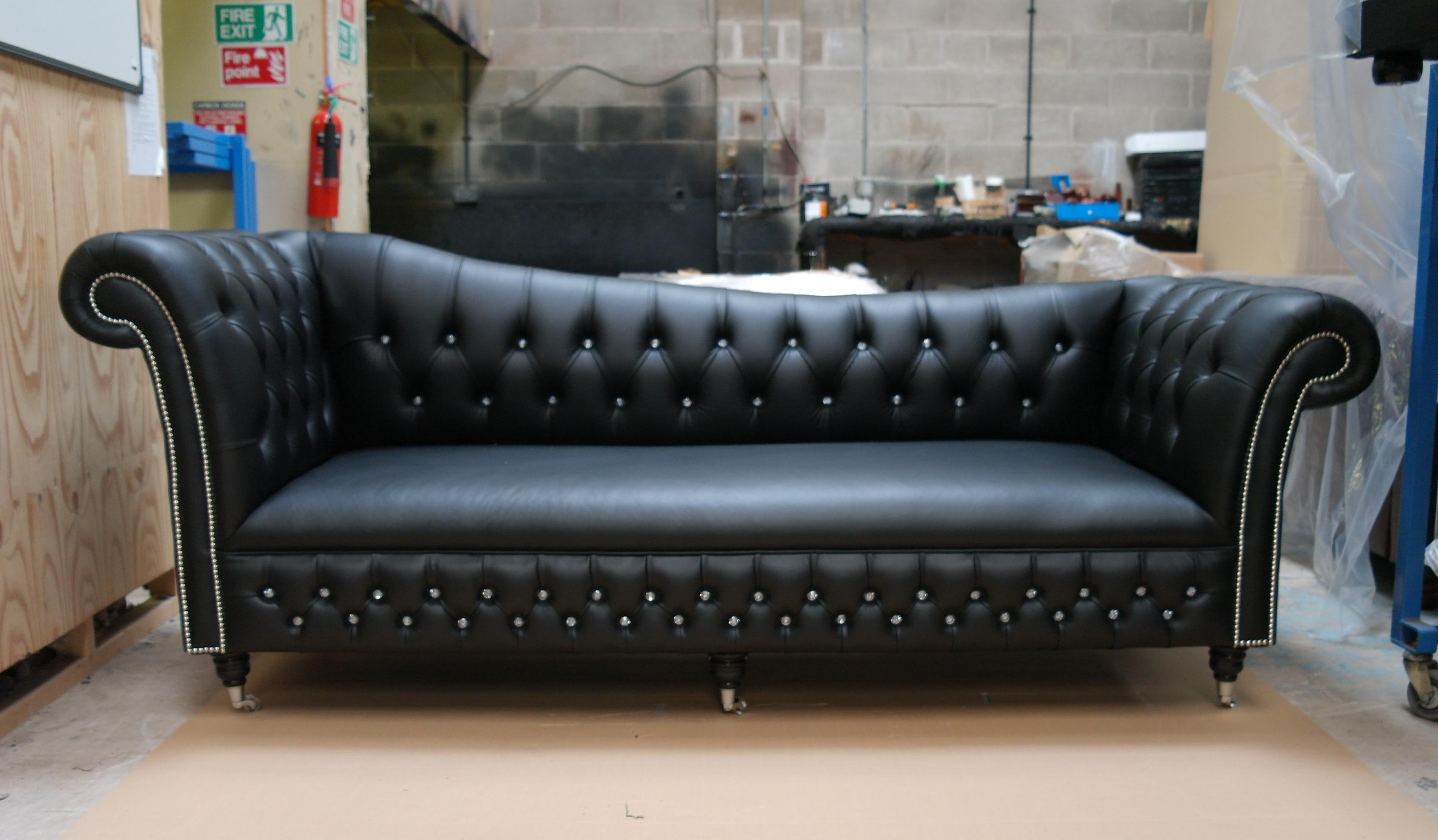 Storage Carnegie Leather Chesterfield Sofa Leather Small With Small Chesterfield Sofas (Image 12 of 15)