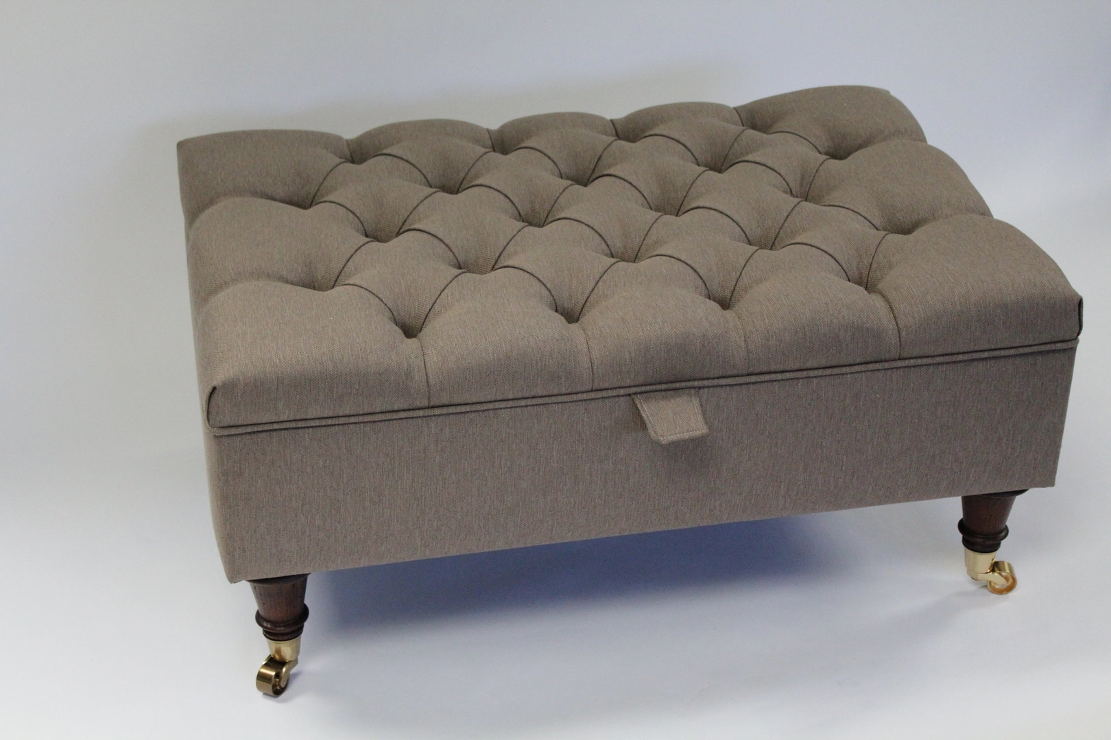 Storage Footstools Ottomans In Leather Footstools And Pouffes (Image 14 of 15)