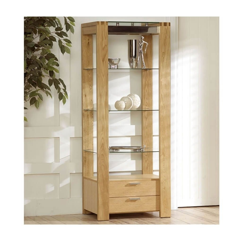 Storage Organization Awesome Lennox Wooden Shelving Unit With Intended For Free Standing Glass Shelves (Image 14 of 15)