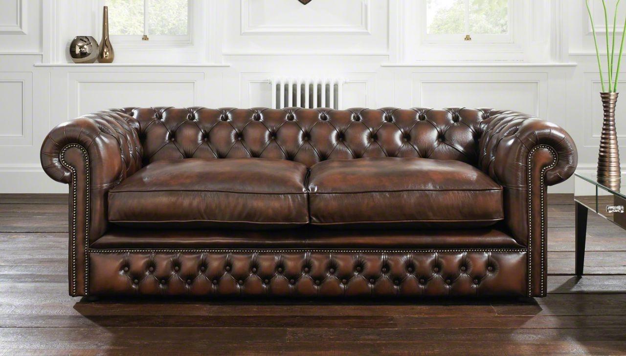 Storage Vintage Brown Leather 3 Seater Chesterfield Sofa Brown In Vintage Chesterfield Sofas (Image 9 of 15)