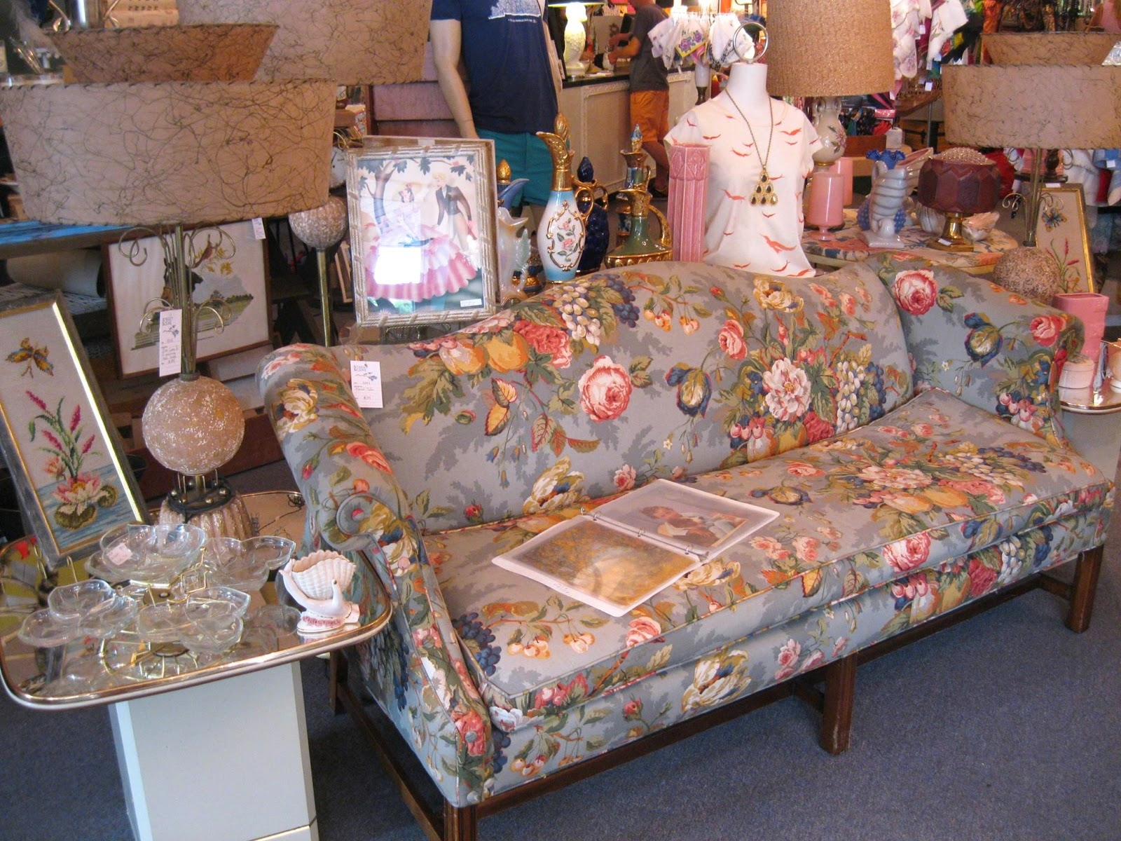 Street Scene Vintage Floral Of The South Chintz For Chintz Floral Sofas (Image 13 of 15)