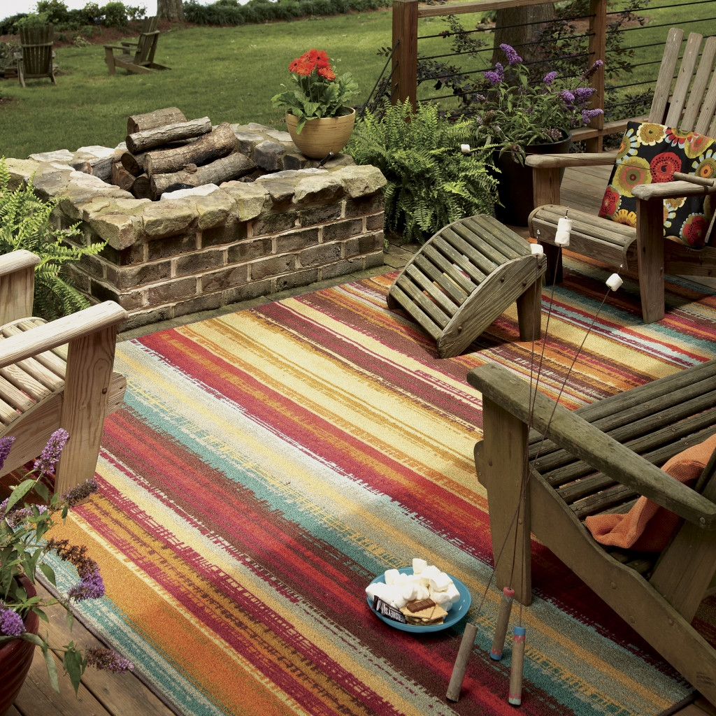Striped Outdoor Rug Deck Room Area Rugs Beautiful Striped With Outdoor Rugs For Deck (View 11 of 15)