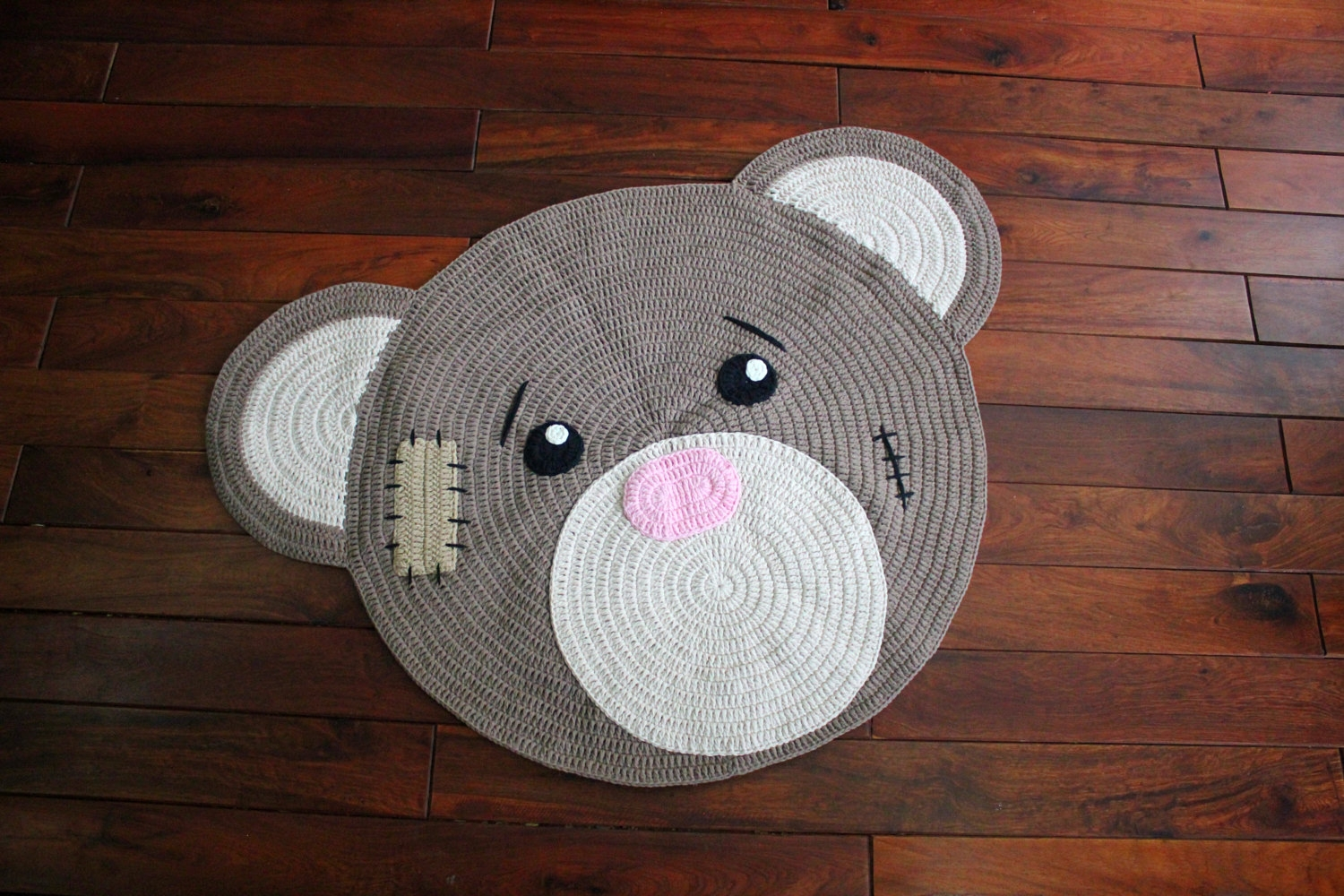 Stuffed Bear Rug Roselawnlutheran For Teddy Bear Rugs (Image 14 of 15)