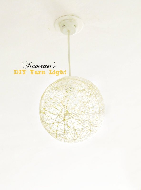 Stunning Brand New Diy Yarn Pendant Lights Intended For Diy Yarn Pendant Light Tutorial Trumatter (Image 22 of 25)