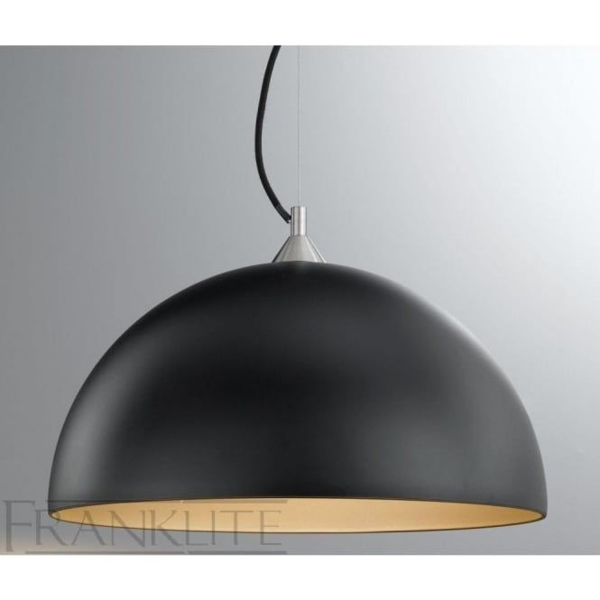 Stunning Common Large Dome Pendant Lights With Fl22911932 Vetross Blackgold Pendant Franklite Pendants (View 21 of 25)