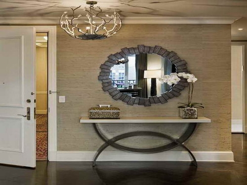 Stunning Common Pier One Pendant Lights Within Exciting Entryway Tables Ideas With Elegant Circle Frame Mirror (Image 24 of 25)