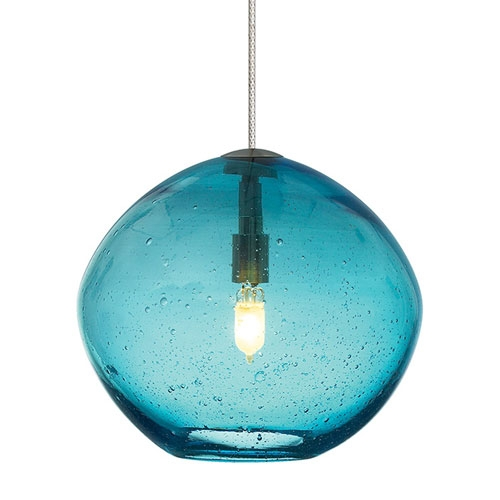 Stunning Deluxe Aqua Glass Pendant Lights Inside Dining Room Inspiring Lighting Glass Pendant Lights Clear For Aqua (Image 17 of 25)
