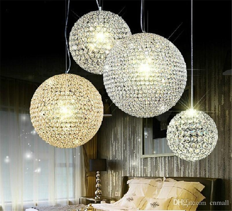 Stunning Deluxe Ball Pendant Lighting With Regard To Led Crystal Ball Lighting Crystal Pendant Lights Minimalist Living (Image 21 of 25)