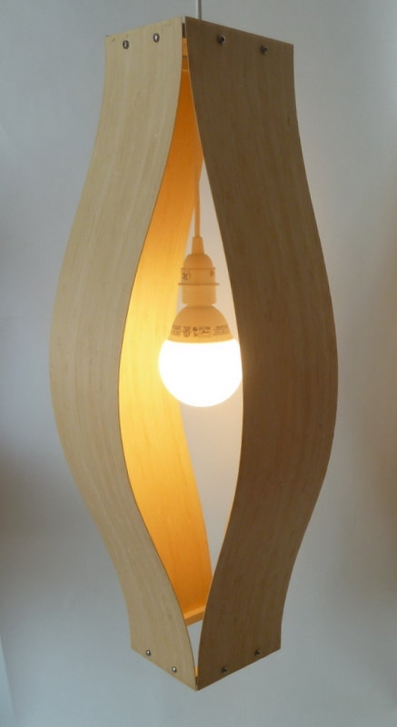 Stunning Deluxe Bent Wood Pendant Lights Within Items Similar To Modern Bent Wood Pendant Lamp In Bamboo On Etsy (Image 25 of 25)