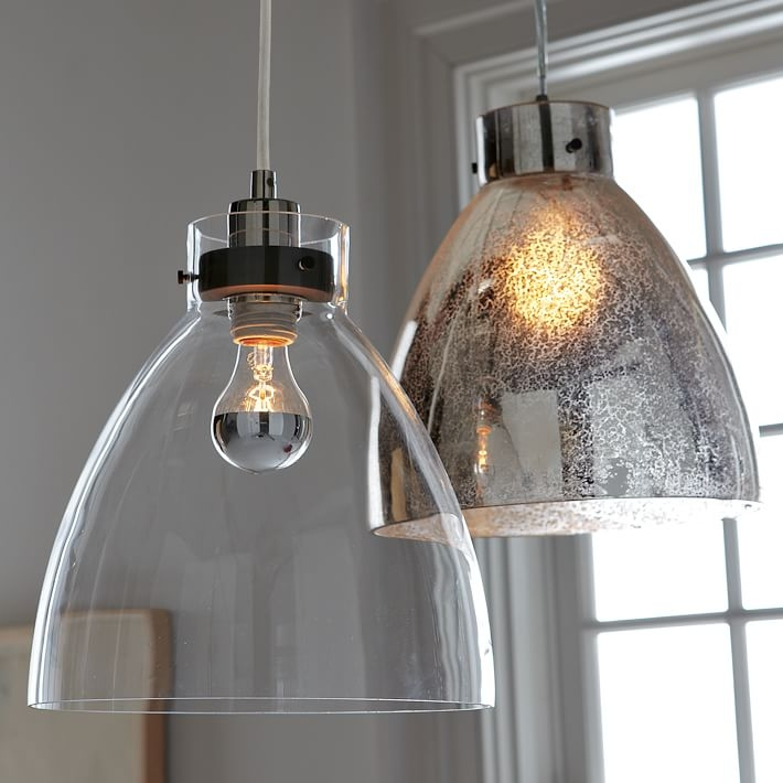 Stunning Deluxe Mercury Glass Pendant Lights Intended For Industrial Pendant Mercury West Elm (Image 23 of 25)