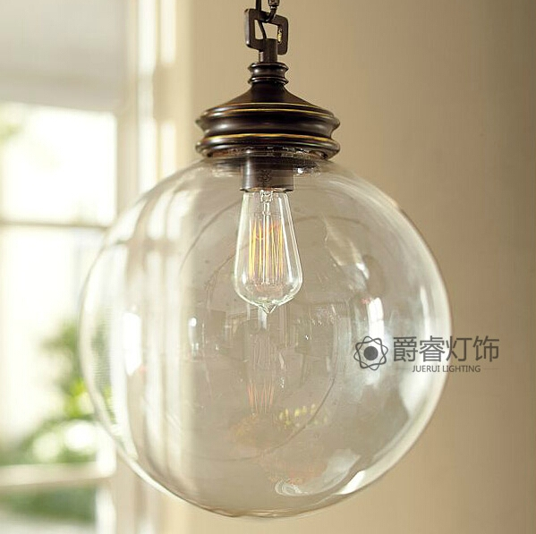 Stunning Deluxe Rustic Clear Glass Pendant Lights Intended For Online Get Cheap Rustic Pendant Lighting Kitchen Aliexpress (Image 21 of 25)