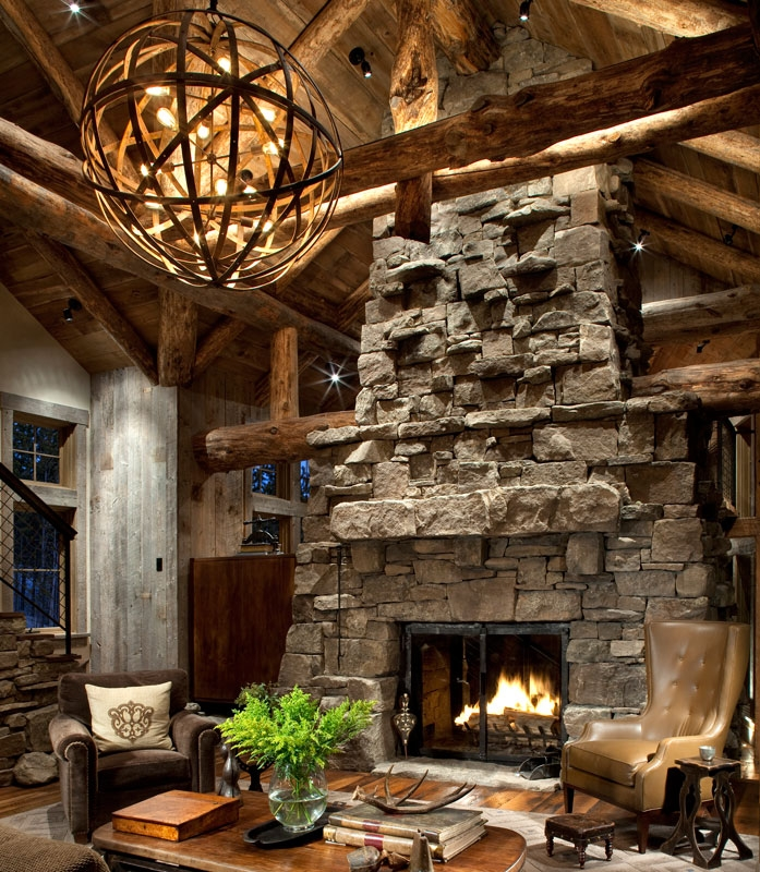 Stunning Deluxe Rustic Lighting Inside Cabin Design Decor Rustic Lighting (Image 21 of 25)