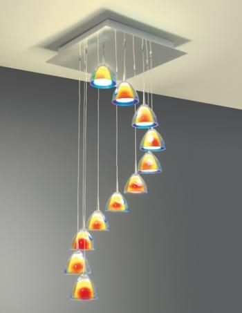 Stunning Elite Hand Blown Glass Pendant Lights Within Hand Blown Glass Pendants Residential Lighting (Image 19 of 25)