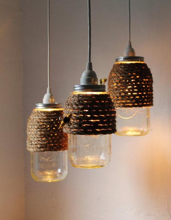 Stunning Famous Mason Jar Pendant Lamps Regarding Crafty Mason Jar Repurpose Ideas Quart Size Mason Jars (Image 24 of 25)