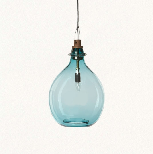 Stunning Fashionable Turquoise Blue Glass Pendant Lights Intended For Glass Pendant Light Design (Image 22 of 25)
