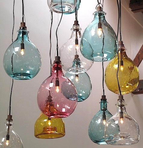 Stunning High Quality Aqua Glass Pendant Lights Intended For Lighting Handblown Glass Pendants From Cisco Brothers Remodelista (Image 19 of 25)