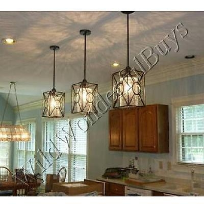 Stunning High Quality Crackle Glass Pendant Lights Regarding Crackle Glass Pendant Island Light Black French Farmhouse Tuscan (Image 23 of 25)