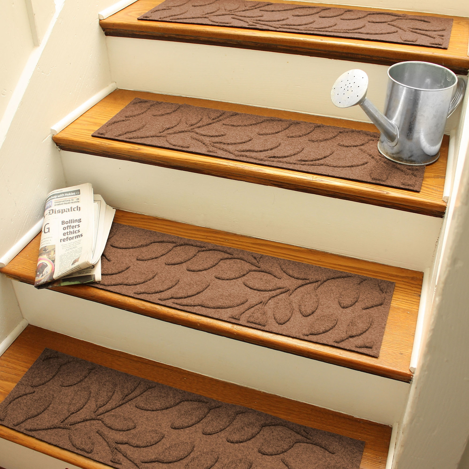 Stunning Home Stair Design Inspiration With Wooden Staircase And Throughout Brown Stair Treads (Image 13 of 15)