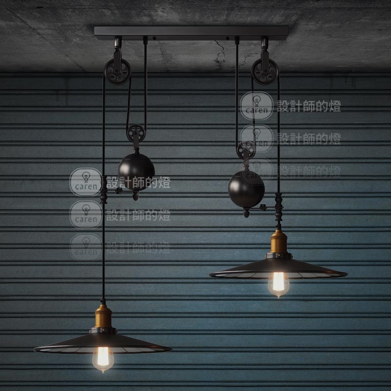 Stunning Latest Double Pulley Pendant Lights Regarding Aliexpress Buy Rh Loft Vintage Pulley Lift Double Slider (Image 18 of 25)