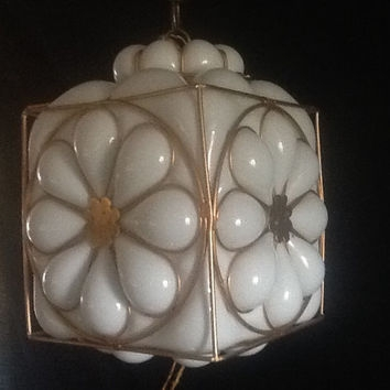 Stunning New Milk Glass Pendant Lights Inside Best Milk Glass Pendant Products On Wanelo (Image 22 of 25)