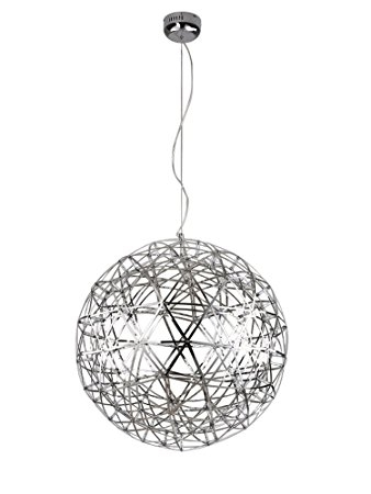 Stunning New Stainless Steel Pendant Lights With Kiven Sparking Stars Lights Modern Style Globle Shade Stainless (Image 23 of 25)