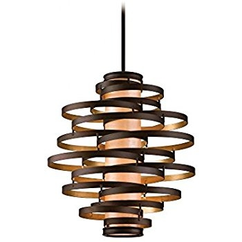 Stunning Popular Corbett Vertigo Small Pendant Lights With Corbett 28574344 Corbett Four Light Bronzegold Leaf Down Pendant (Image 21 of 25)