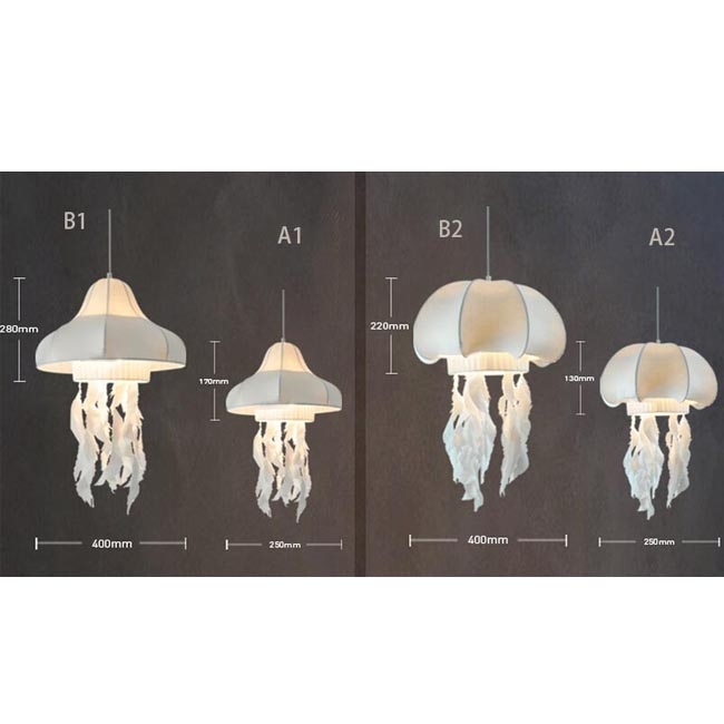 Stunning Popular Jellyfish Pendant Lights With Regard To Modern Silk Jellyfish Pendant Lighting 8204 Browse Project (Image 23 of 25)
