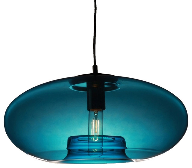 Stunning Popular Pale Blue Pendant Lights For Vintage Glass Pendant Light Blue Bubble Modern Design (View 5 of 25)