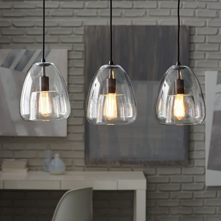 Stunning Preferred 3 Light Pendants Intended For Duo Walled Chandelier 3 Light West Elm (Image 21 of 25)