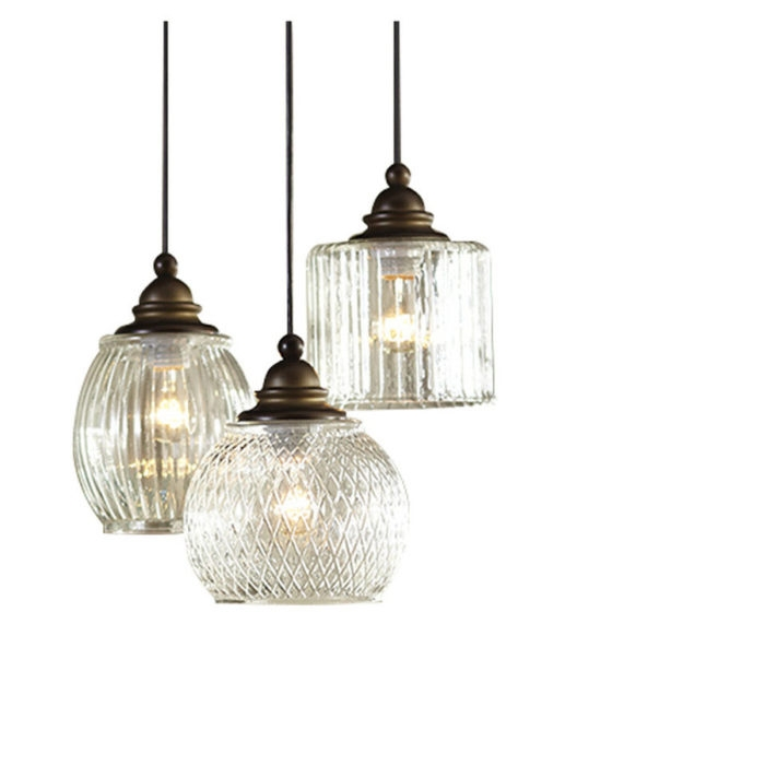 Stunning Preferred Paxton Glass 3Light Pendants With Pottery Barn Paxton Glass 3 Light Pendant Decor Look Alikes (View 5 of 25)