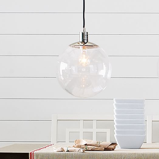 Stunning Premium Globes For Pendant Lights Within Globe Pendant Clear West Elm (Photo 14 of 25)