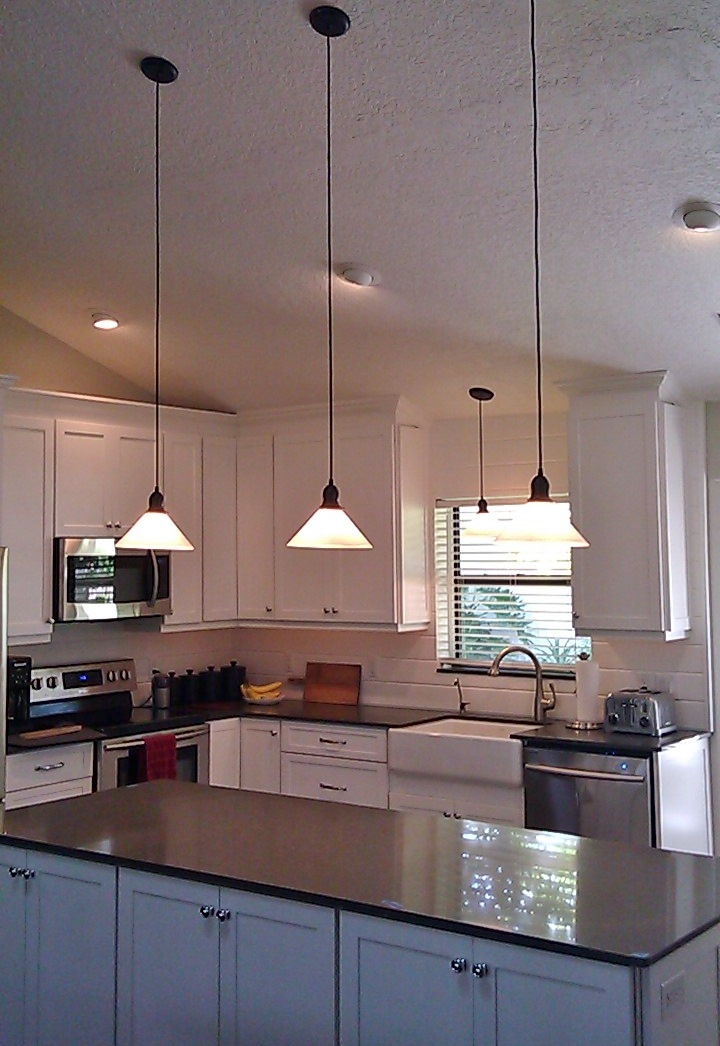 Stunning Premium Milk Glass Pendants Within Glass Shade Pendants Bring Vintage Flavor To Kitchen Remodel (Image 22 of 25)