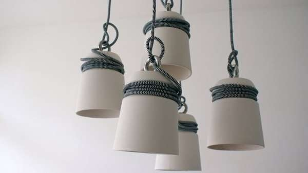Stunning Premium Quirky Pendant Lights Pertaining To Tightly Wound Pendant Lamps Cable Light (Image 21 of 25)