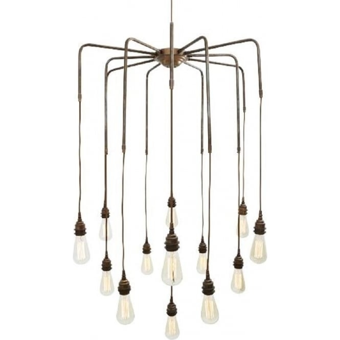 Stunning Trendy Bare Bulb Cluster Pendants Intended For Cluster Of Bare Bulb Ceiling Pendant Lights Hanging On Gold Framework (Image 21 of 25)
