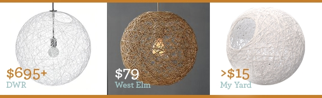 Stunning Trendy Diy Yarn Pendant Lights Regarding Scout Modern Blog Archive String Pendant Lamp Shade Tutorial (Image 23 of 25)
