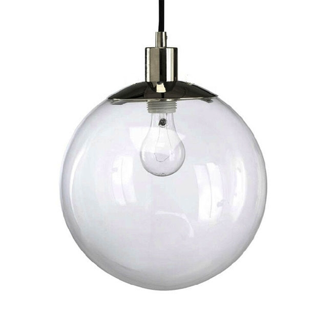 Stunning Trendy Glass Orb Pendant Lights Intended For Modern Country Clear Glass Orb Pendant Lighting In Chrome Finish (Image 22 of 25)