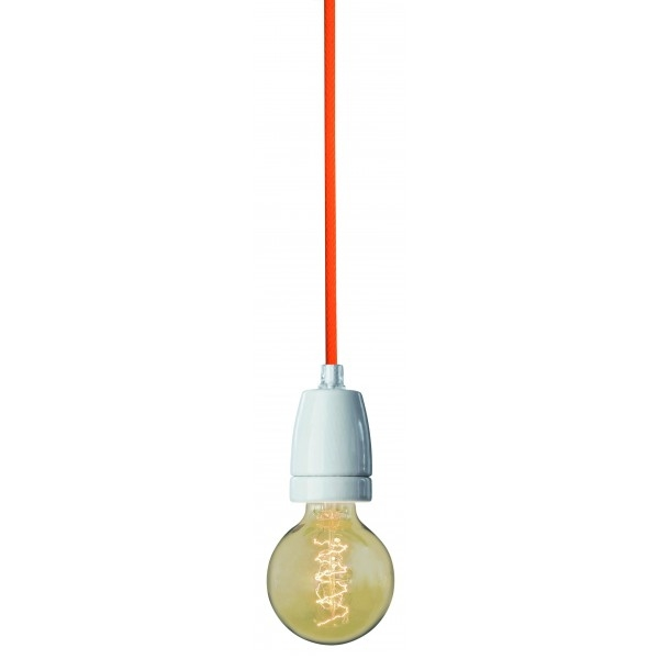 Stunning Trendy Nud Pendant Lights Intended For Nud Orange Textile Cableflex Pendant Light Fitting Light Of (Image 24 of 25)