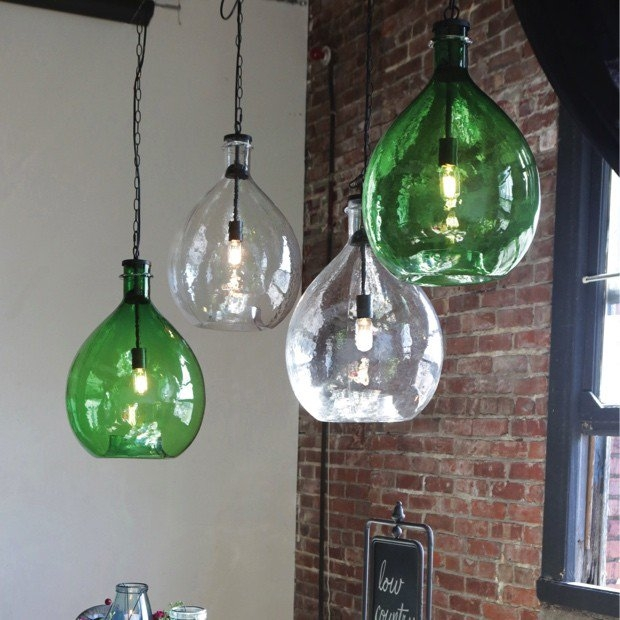 Stunning Unique Glass Jug Pendants With Regard To Oversized Glass Jar Pendant Light Antique Farmhouse (Image 21 of 25)