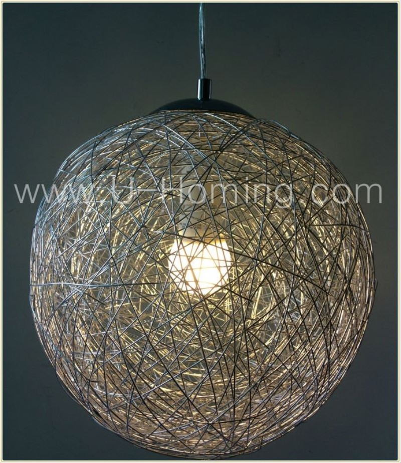 Stunning Unique Wire Ball Pendant Lights With Regard To Aluminum Wire Ball Lighting Aluminum Wire Ball Lighting Suppliers (Image 25 of 25)