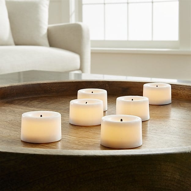 Stunning Variety Of Crate And Barrel Lighting With White Flameless Tea Lights Crate And Barrel (Image 23 of 25)