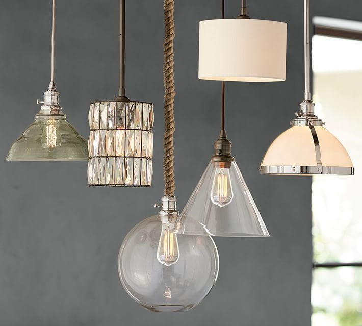 Stunning Variety Of Milk Glass Pendants Within Pb Classic Pendant Glass Globe Pottery Barn (Image 24 of 25)